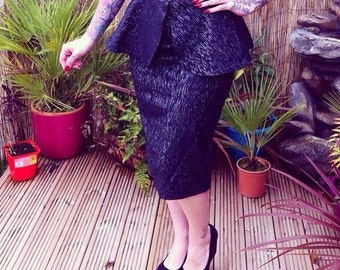 Vintage inspired peplum skirt UK size 6/8