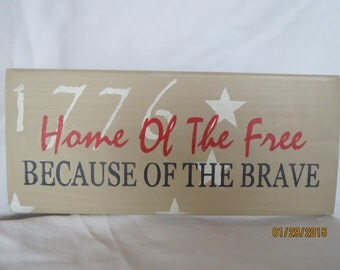Hand painted sign, Military sign, Americana sign