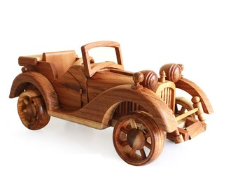 Wooden Toy Classic Car 11 in Handmade