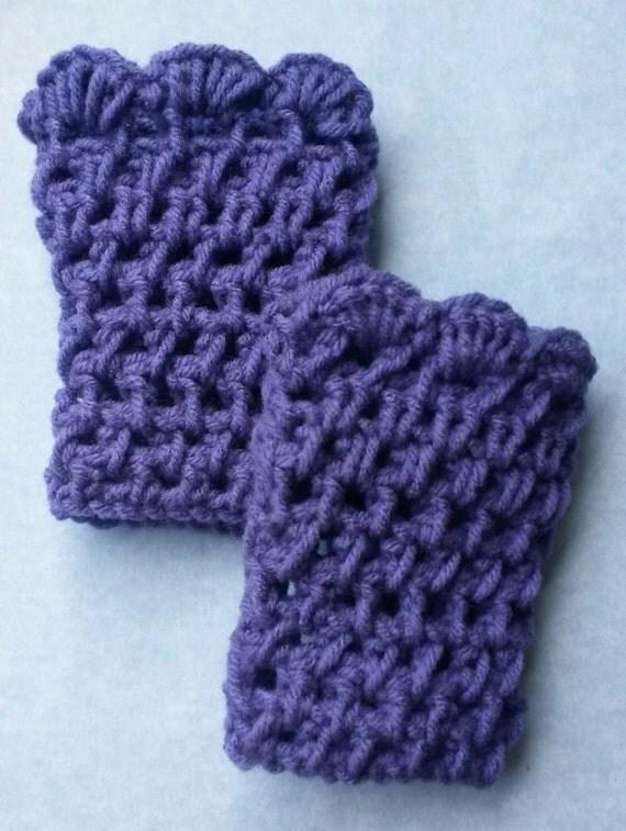 Items similar to Child purple crochet boot cuffs, child ...