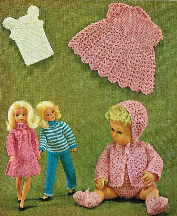Knitting Patterns For Teenage Dolls : 12 teenage & 14Baby Dolls clothes knitting and