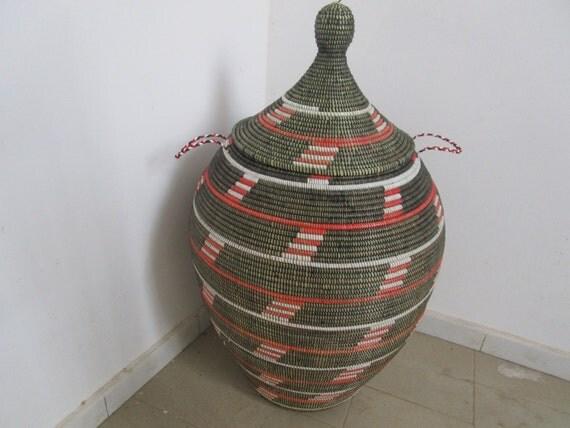 style africain grand panier 224 linge panier par africanbaskets