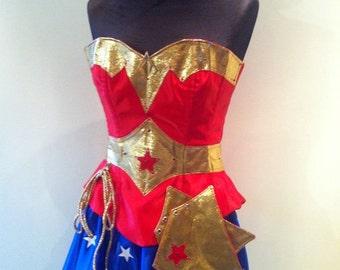 Kim style wonder woman corset costume made to measure