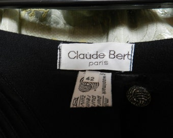 SPECIAL PRICE -Vintage French Haute Couture Suit Skirt - Claude Bert Paris - 100% Wool - Size 42 (UK 12-14)
