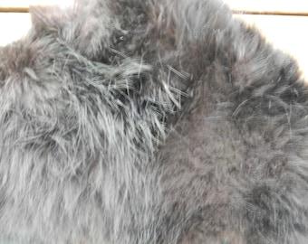 Final CLEARANCE SALE-Vintage Fur Stole-Genuine Black Fox Stole-Long-Real Fur-Vintage Accessory-French Vintage - With Chain - 18cm x 127cm