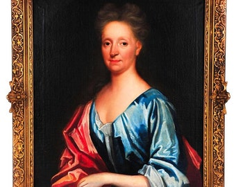 18th century Portrait of an English Woman Oil Painting on Canvas