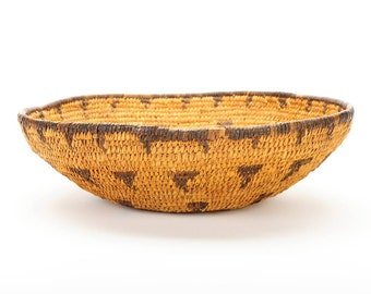 """Native American Fabulous 12"""" Authentic Indian Basket circa 1910s-NICE!!"""