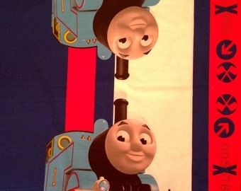 """Thomas The Train PANEL Fabric - L42"""" x W35"""" inches - Cotton Blend"""