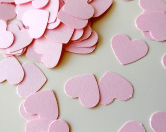 200pcs heart Confetti for Party, Valentine, baby shower, Wedding, Table decoration, Die cuts, Scrapbooking or Cardmaking