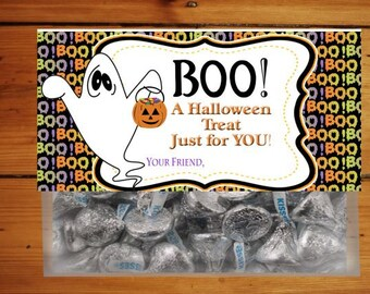 Halloween Treat Toppers, Boo Treat Bags, Halloween Bag Toppers. Halloween Labels, Boo Treat Bag Toppers, Ghost Treat, Ghost Topper