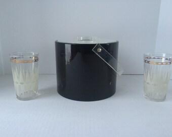 Mod Black Georges Briard Ice Bucket