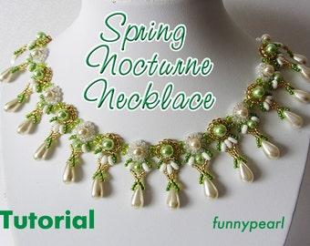 Necklace Spring nocturne. Tutorial PDF