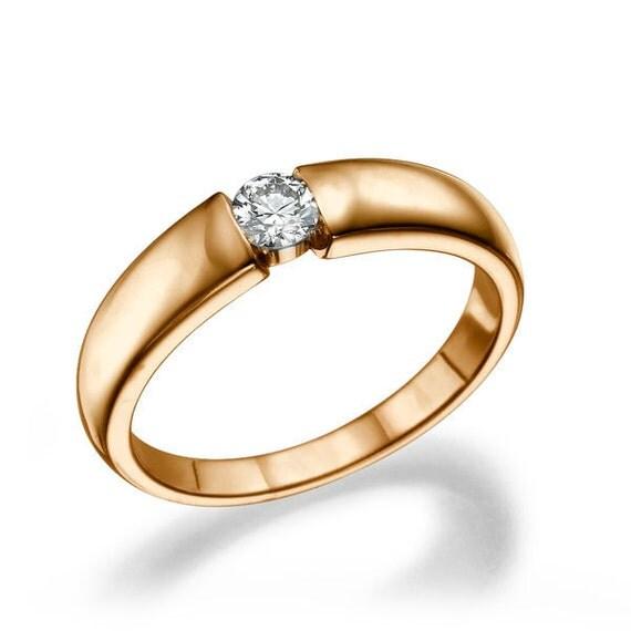 unique moissanite engagement ring 14k gold ring