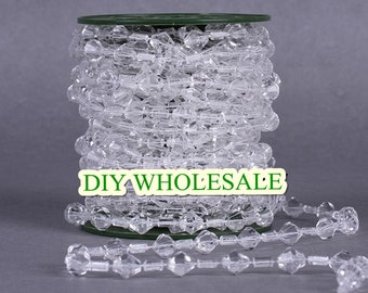 10Meters High quality Acrylic Clear beads Garland , Wedding Wishing Tree Candelabra Accessories