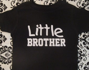 Little Brother sibling black t-shirt funny kids boys youth toddler black short sleeve shirt