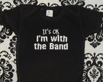 Band baby shirt, band baby one piece, band baby bodysuit, band baby sayings, band baby shower, band baby boy, band baby girl