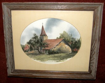 Listed Texas Artist Joan Usner Salvant - Set OF TWO Original Watercolor Paintings circa 1980s