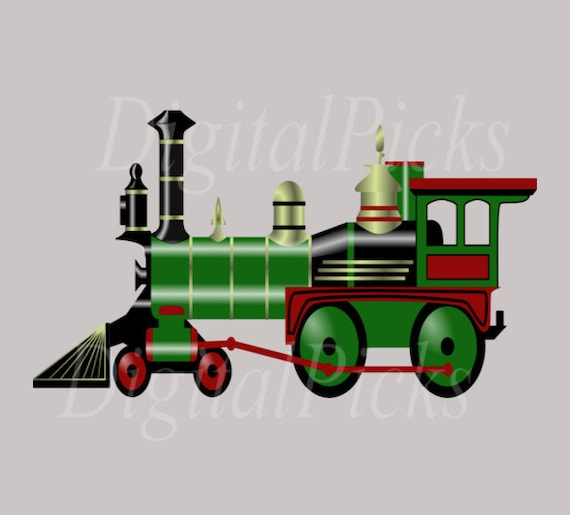 Toy Train Graphics : Vintage toy train digital clip art png and