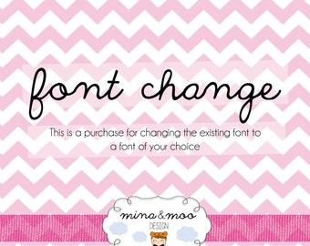 Pre-made Logo Design - Font Change