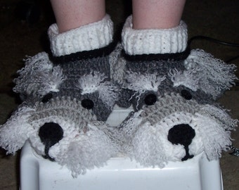 Crochet Shih Tzu Puppy Slippers for the whole family