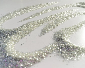 glitter - silver fine polyester