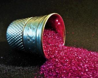 glitter -hot fuchsia ultra-fine polyester