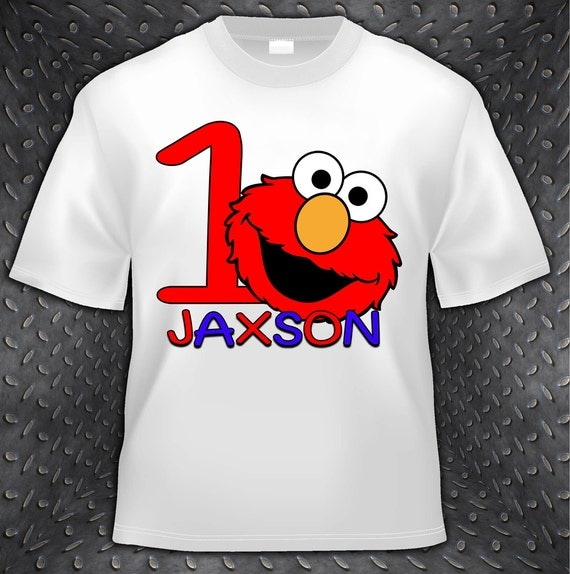 Personalized Boy or Girl Sesame Street Birthday T Shirt - Elmo,Cookie Monster, Party
