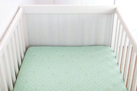 Fitted Crib Sheet Mint Crib Sheet Crib Sheet Triangle Crib