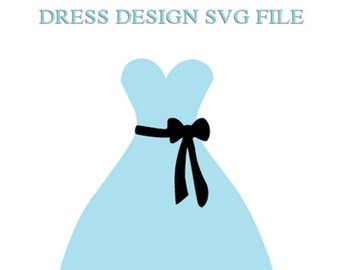 Strapless Dress with Sash File for Cutting Machines | SVG and Silhouette Studio (DXF)