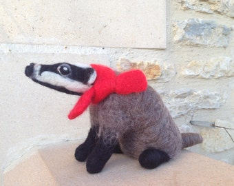 Barry The Needle Felted Badger