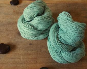 Cashmere Sock Yarn, Naturally Dyed Saxon Blue, Goldenrod Yarn, Green Merino Yarn, Green Sock Yarn, Superwash Merino Yarn, Cashmere Mint Sock