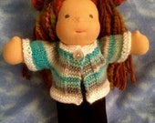 10 Inch  -  Waldorf Doll   --  Knitted Sweater