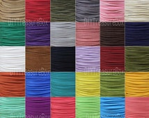 Faux Suede Leather Cord, Leather String Cord, DIY Cord Supplies, Faux Suede Lace, Vegan Suede Cord, bracelet cord  2.5mm