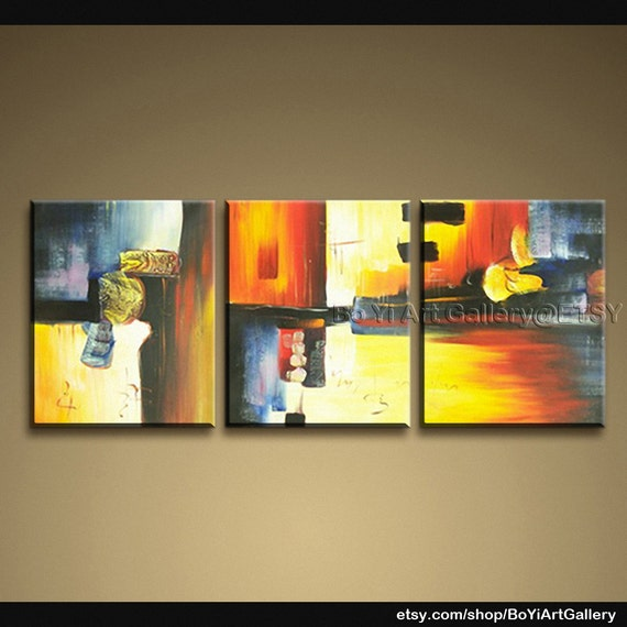 """Original Abstract Art Modern Oil Paintings Large Contemporary Wall Art Abstract 62"""" x 22"""""""