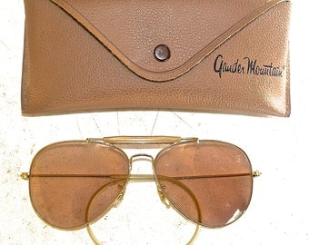 Gander Mountain Shooting Glasses Pair, 1960s Vintage, Aviator Style Sun Glasses, Very Nice Condition