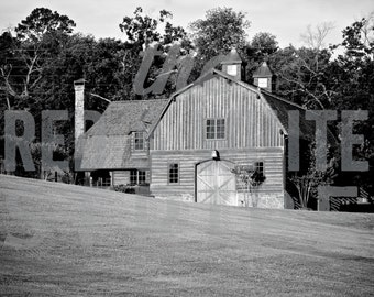 Architecture Photography in Black and White - Barn - Fine Art Photo, Home Decor, Wall Art