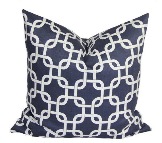 Navy Blue Decorative Pillow Covers : Navy blue pillow Decorative pillow cover 18 x by HomeDecorPillows