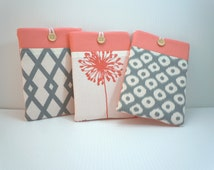 Kindle paperwhite cover Kindle paperwhite case sleeve Kindle HD small tablet Nexus 7 sleeve PRO PADDED choose from Cool Coral Collection