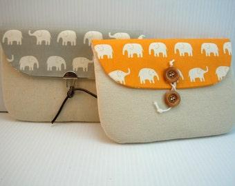 ipad cover, ipad case, ipad bag, ipad sleeve, 9 in tablet bag, thick pro foam padding Asian Daiwabo elephant fabric CHOICE: color & closure
