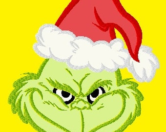 The Grinch Applique Machine Embroidery Pattern