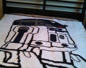 handmade crochet blanket - R2D2 throw