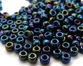 Miyuki 8/0 Round Beads Metallic Dark Blue Iris