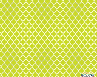 Lime quatrefoil craft  vinyl sheet - HTV or Adhesive Vinyl -  quarterfoil pattern   HTV1421