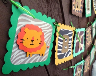 Safari Banner, Safari Birthday Banner, Safari Birthday Decor, Jungle Banner, Jungle Birthday banner, Jungle Birthday decor for Boys