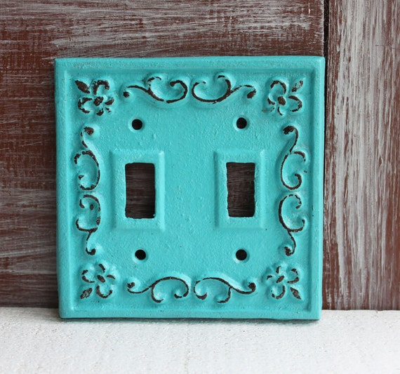 Double light switch cover lightswitch plate by lowerydesigns - Wrought iron switch plate covers ...