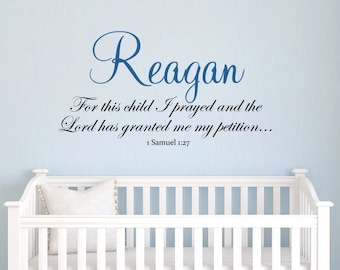 WW923  Scripture Prayer Phrase Lettering Vinyl Wall Decal 40 inches wide X 20 inches tall