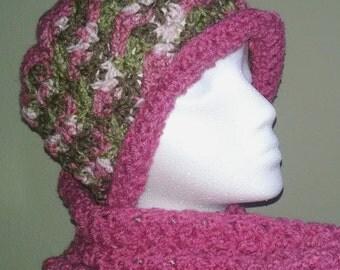 Raspberry Pink Starfish hat with brim. Crochet handmade Womens Girls Accessories