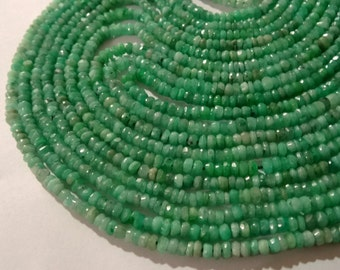 2.5-2.75 mm Natural Chrysoprase Faceted Rondelle Full 13 inch strand-best price