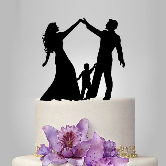 funny family wedding cake toppers acrylic wedding cake topper silhouette by walldecal76 14544