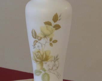 Opaque Floral Asian Vase